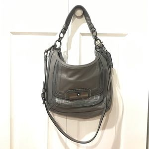Coach gray purse great condition